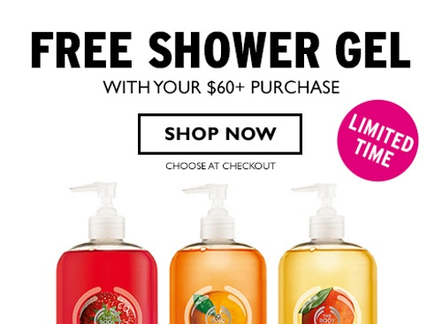The Body Shop Free Jumbo Shower Gel