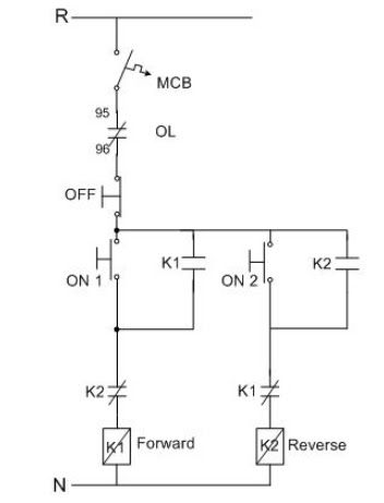Control Wiring Diagram For Single Phase Motor Crochet Square Motif Pattern Circuit 3 Forward Reverse All Dataforward And Manual E Books