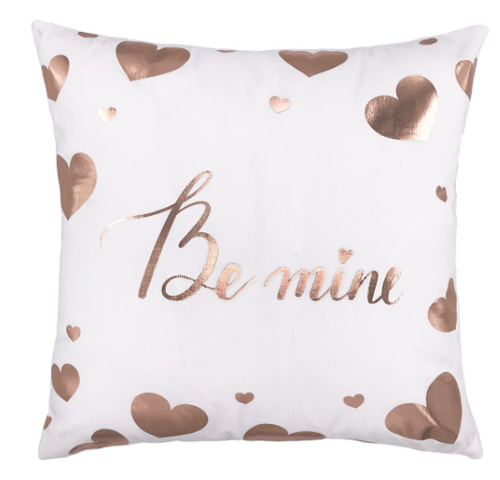 Metallic Be Mine Pillow