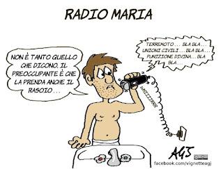 radio maria, terremoto, Unioni civili, vignetta, satira