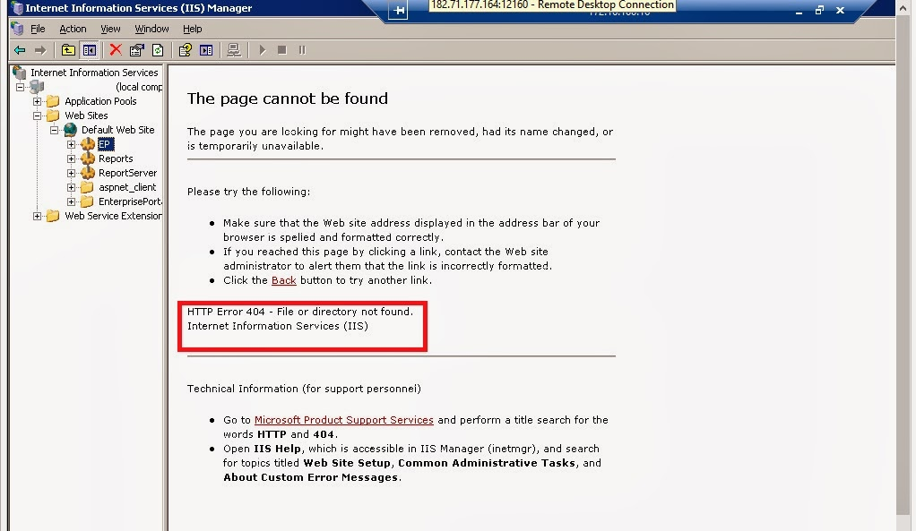 Http Error 404 File Or Directory Not Found Sharepoint