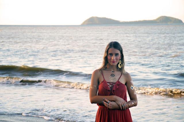 metallic tattoos beach