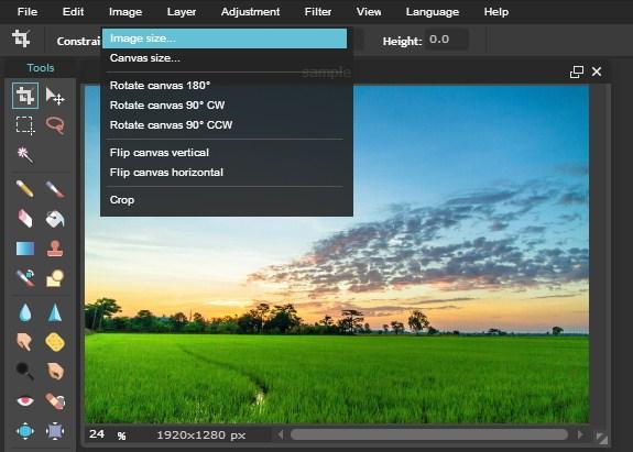 Merubah Ukuran Pixels Foto Dengan Pixlr Editor
