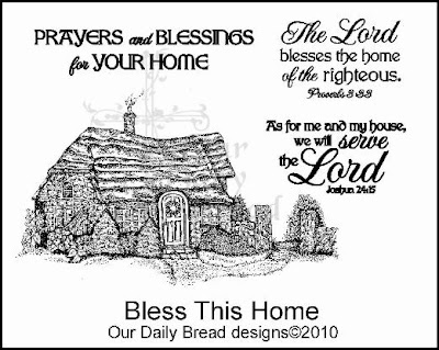 "Our Daily Bread designs ""Bless This Home"""