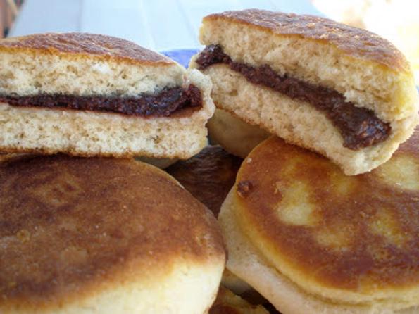 BOLLITOS RELLENOS DE NUTELLA CASERA SIN AZUCAR, EN SARTEN la cocinera novata diabeticos recetas gastronomia cocina sana saludable light baja en calorias cacao panaderia baking