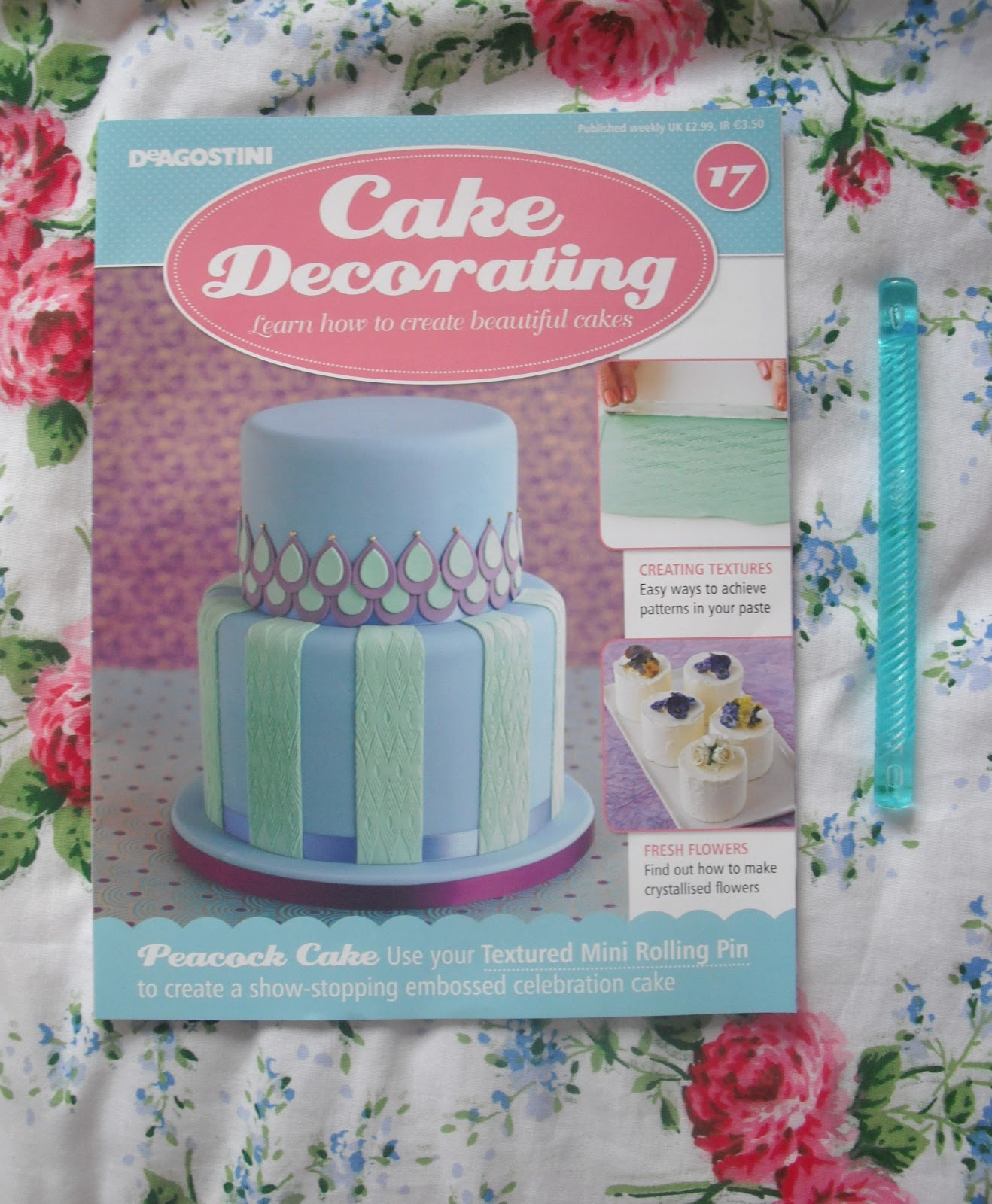 Cake Decorating Magazine Issue 17   Textured Rolling Pin     The magazine this week features how to create sugared blooms  which  requires a paste to be made from sugar and egg whites