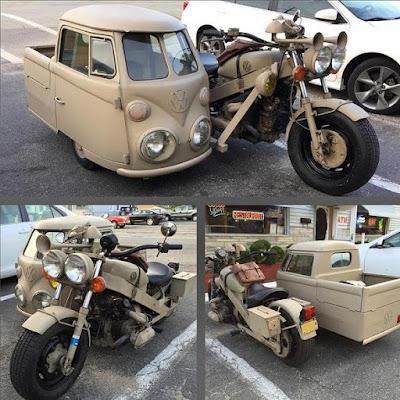VW Sidebus Sidecar Motorcycle