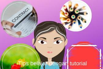 Tips belajar dengan tutorial dan gambar untuk memahami materi