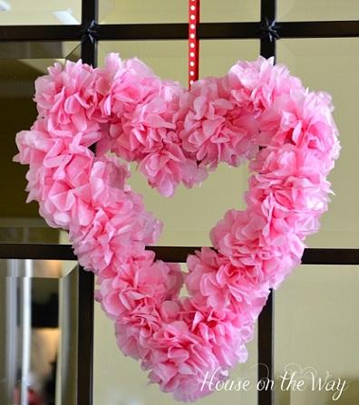 Decoracion Facil Manualidades Para San Valentin Corazon De Flores - Decoracion-san-valentin-manualidades