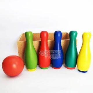 Mainan Anak Bowling Luncur Set