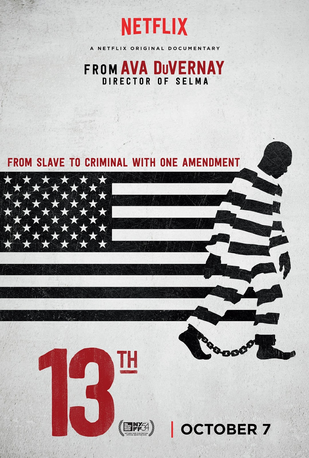 poster for 13th by ava duvernay now streaming on netflix