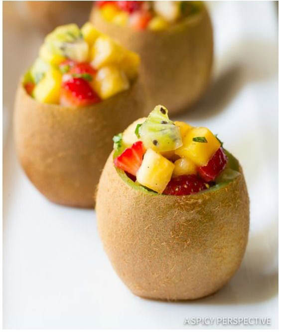 9 chic kiwi recipes and crafts to try: kiwi salad cups