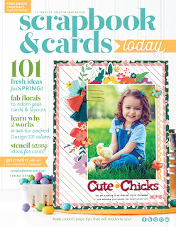 Hello There Scrapbooking Layout with Crepe Paper Flowers