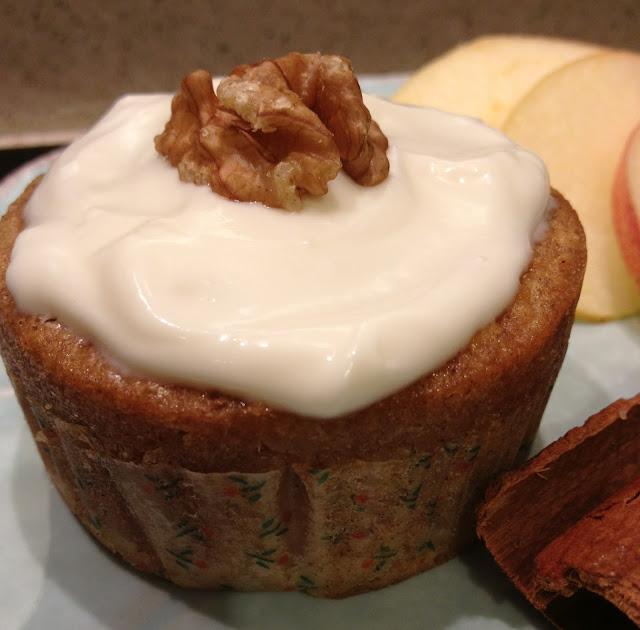 cupcakes, pommes,cannelle,sirop d'érable