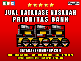 Jual Database Nasabah Prioritas Bank