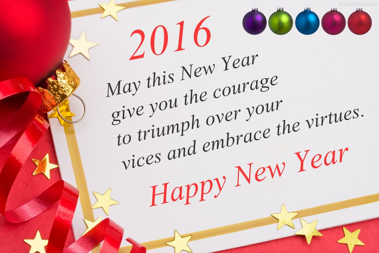 Bhupendra Chahar Happy New Year 2016 Greetings Wishes Quotes