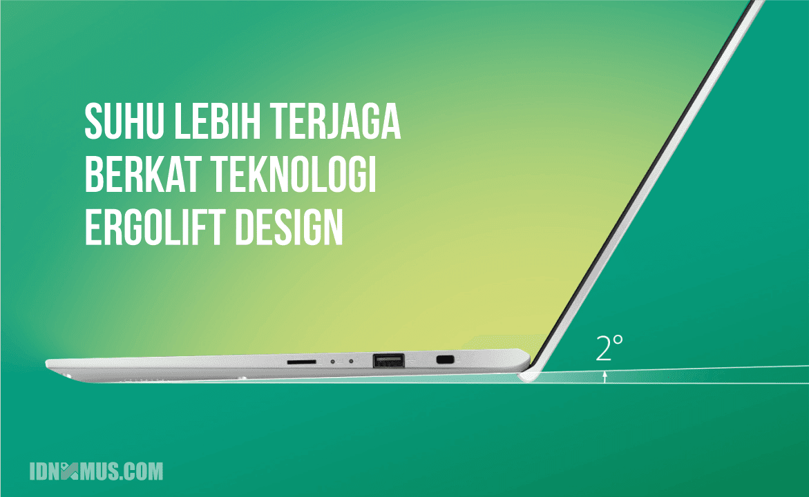 Asus VivoBook Ultra A412DA Hadir Dengan Ergolift Design