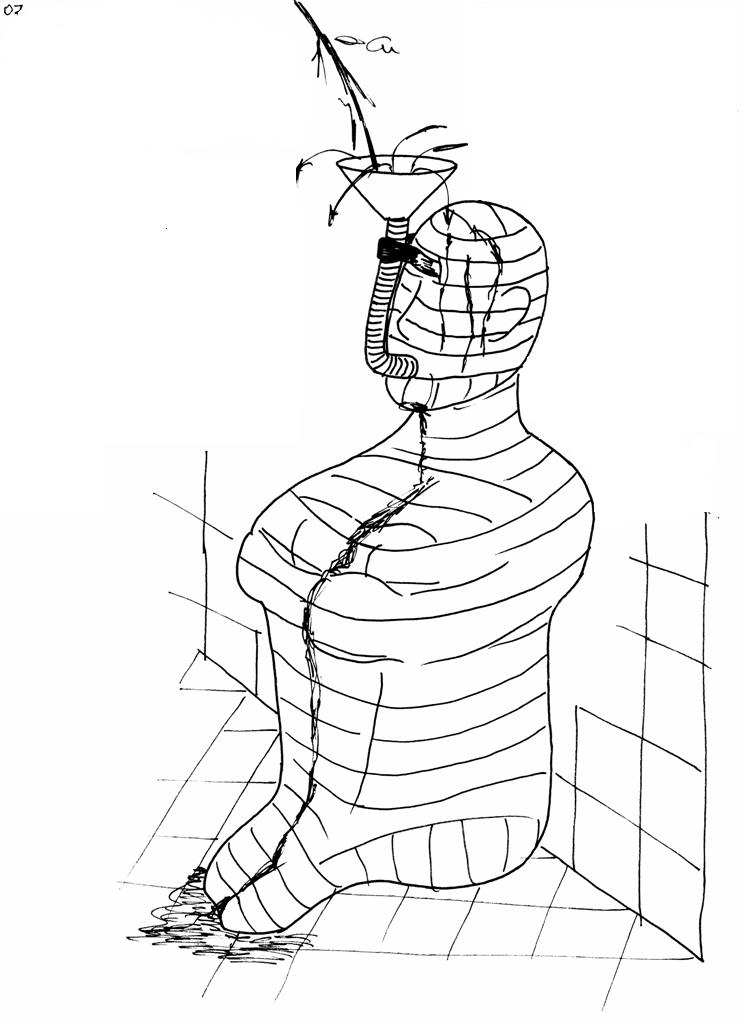 rubbergimp: Bondage Drawing