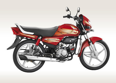 Hero HF Deluxe 100 cc side look bike Hd Image