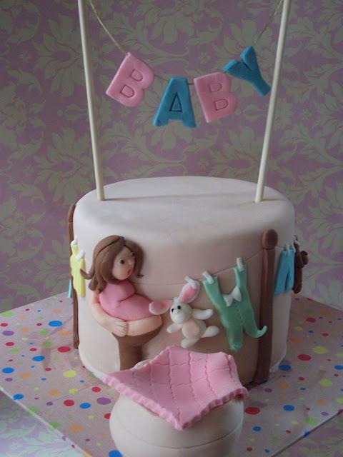 Bánh kem sinh nhật dánh yêu dành cho bà mẹ đang mang bầu