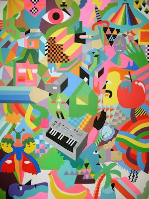 El artista Chris Magnusson de Suecia y su colorido arte