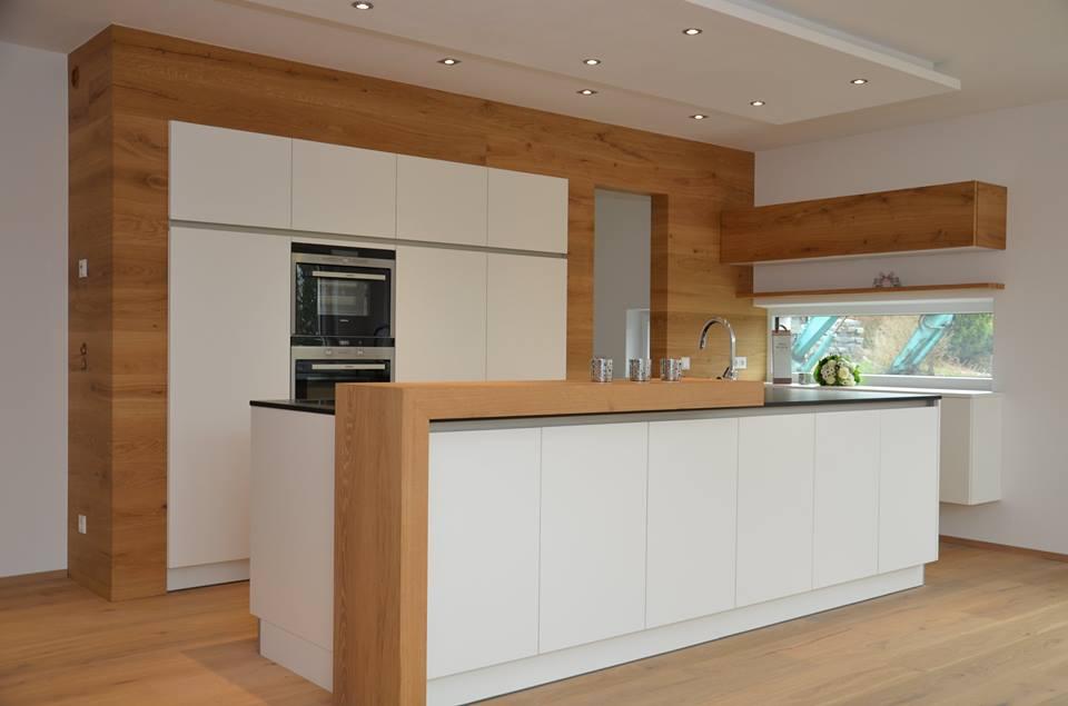 Ms ideas de cocinas en blanco y madera II  Cocinas con