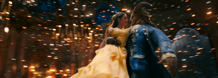 "Emma Watson and Dan Steven in ""Beauty and the Beast"""