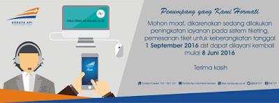 Pemesanan Tiket Kereta Api September Baru Bisa Dipesan 8 September 2016