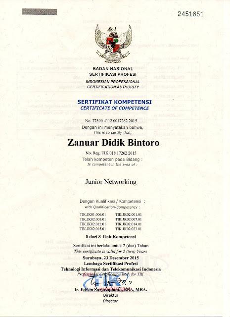 contoh sertifikat kompetensi
