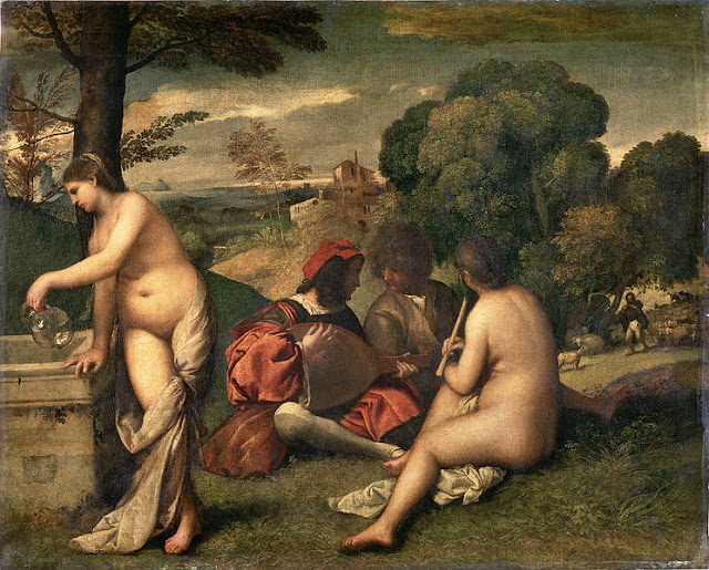It is believed that Manet 'borrowed' the concept and subjects from two sources: one from Raphael's drawings and the other from 'Pastoral Concert' painted by Giorgione 300 years earlier. Photo: WikiMedia.org.
