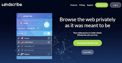 Windscribe Free VPN for Windows, iOS and Android