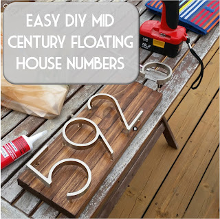 free, easy diy tutorial for mid century floating house numbers by sew at home mummy