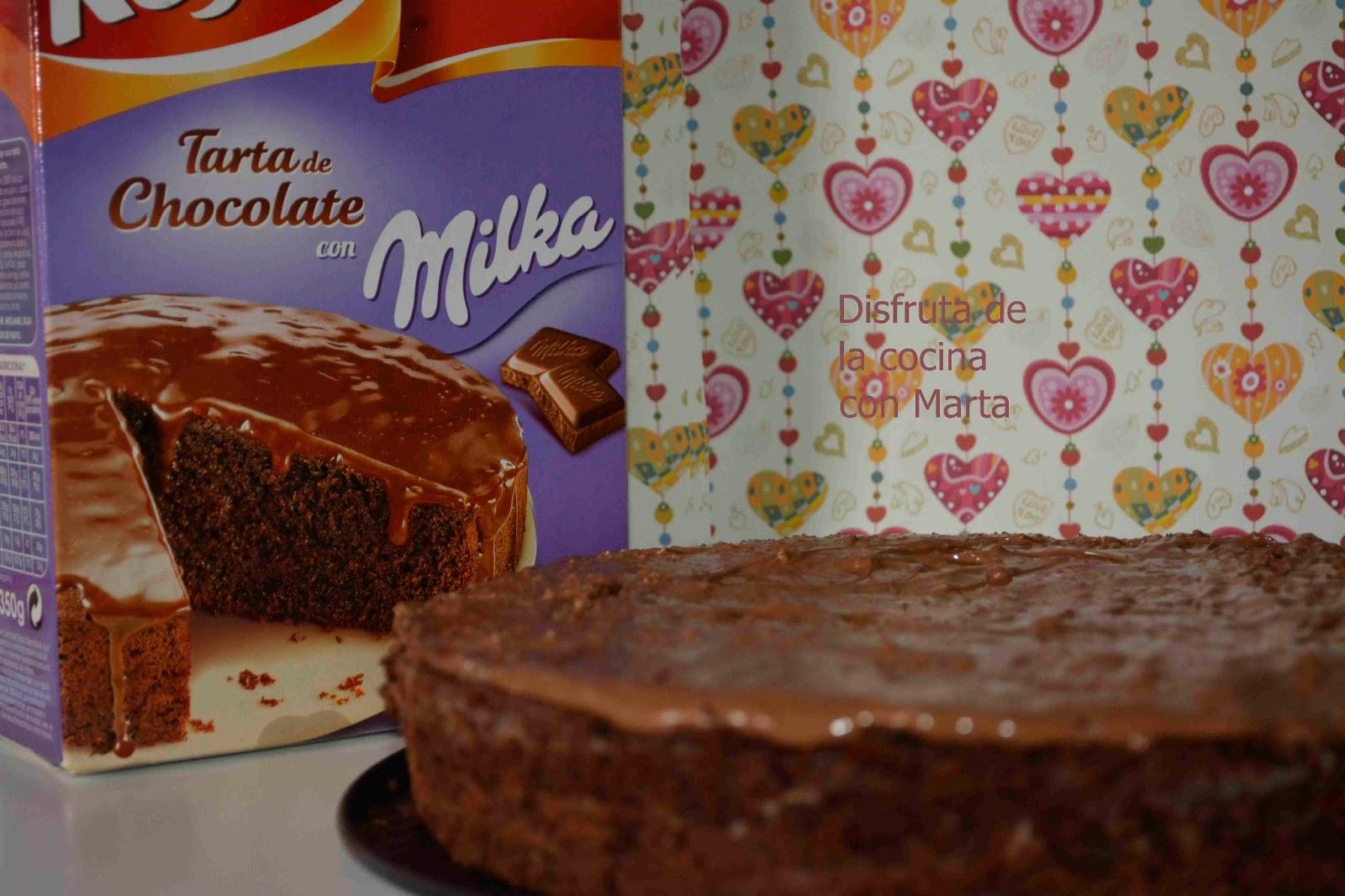 Disfruta De La Cocina Con Marta Tarta Con Chocolate Milka