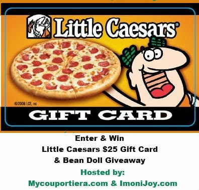 Enter the Little Caesars $25 Gift Card & Bean Doll Giveaway. Ends 3/14.