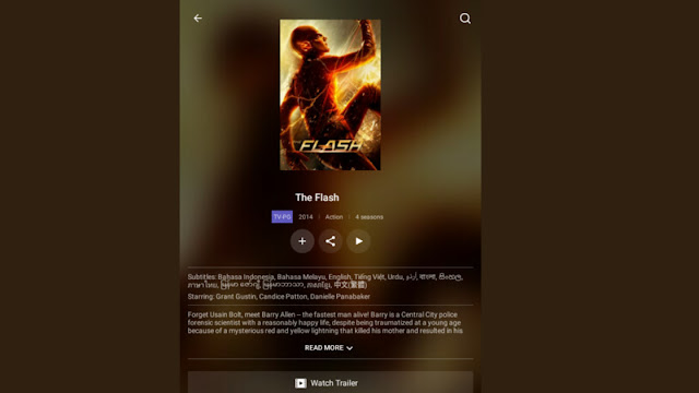 The Flash di Iflix