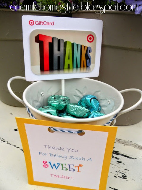 Thank you for being a sweet teacher. Teacher Appreciation Gift - One Mile Home Style