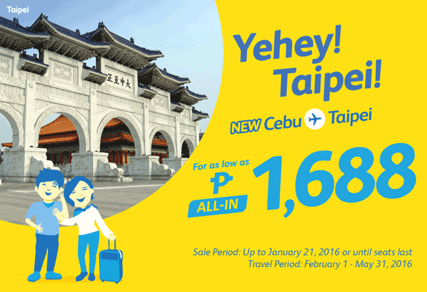 Cebu Pacific Air Promo Ticket 2016