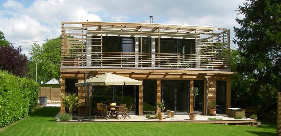 A fleur d 39 une histoire de mur ou de bois - Maison d architecte en bois ...