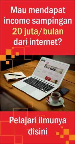 Income 40 juta dari internet