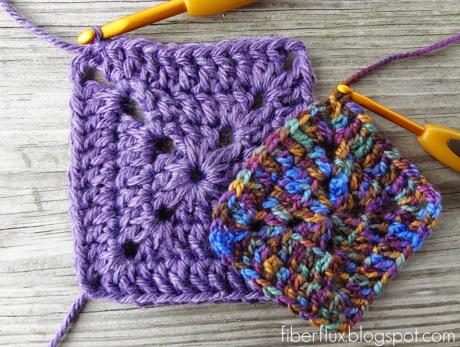 How To Crochet A Granny Square Beginners Tutorial : Fiber Flux: Crochet Tutorials