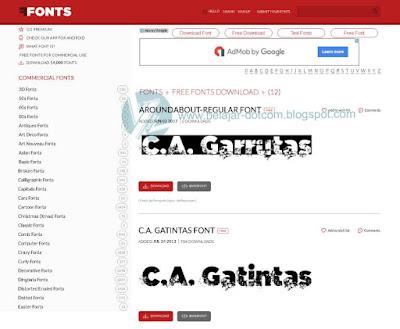 12 Website Terbaik untuk Download Font Gratis