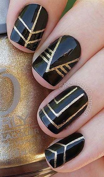 25 Edgy Black Nail Designs