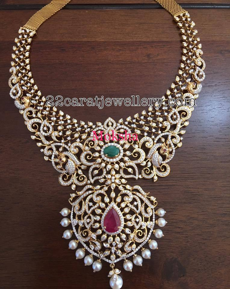 Heavy Diamond Necklace by Moksha