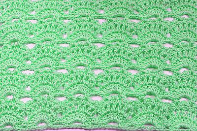 4 -Crochet Imagen punto abanicos a crochet muy facil y rapido Majovel Crochet