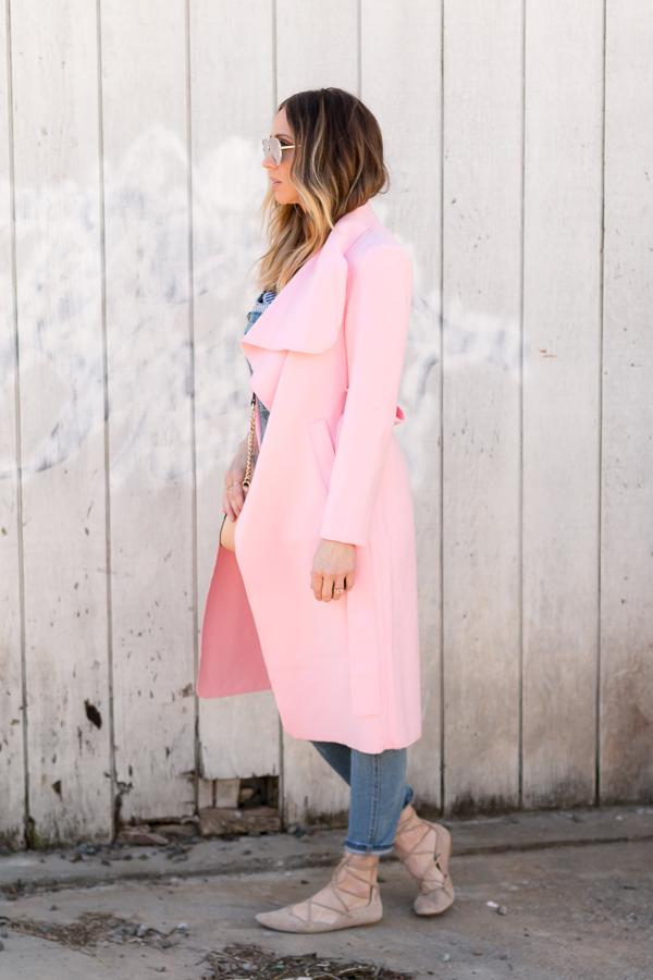 pink ruffle jacket parlor girl