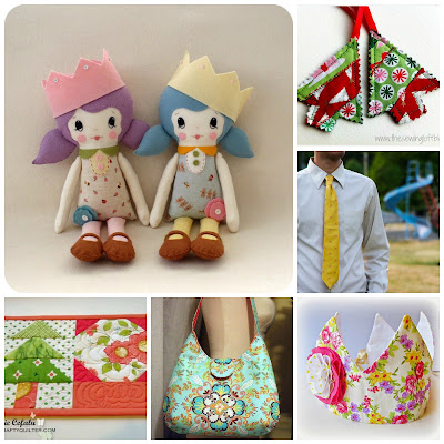 sewing diy tutorial roundup christmas doll decorations crown tie necktie bag purse tote