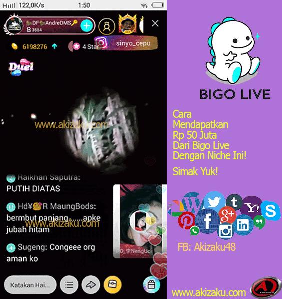 Apa itu Bigo Live? Cara Mendapatkan Rp 50 Juta Dari Bigo Live Dengan Niche Ini! Simak Yuk!