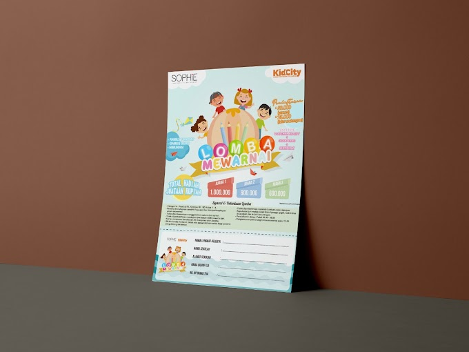 Desain Lomba Mewarnai Sophie Paris & KidCity
