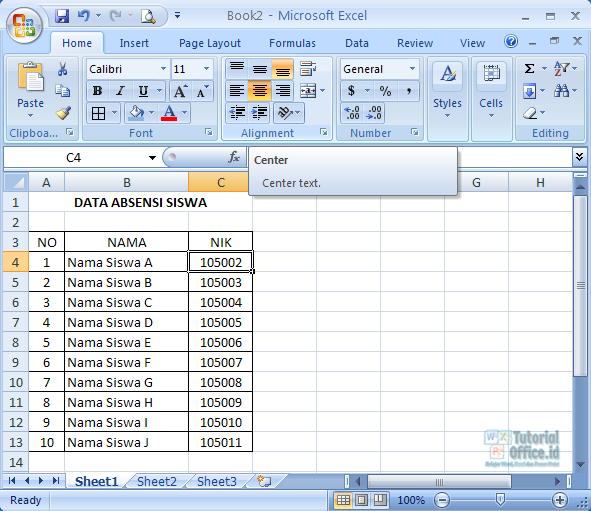 Belajar Microsoft Excel Pemula