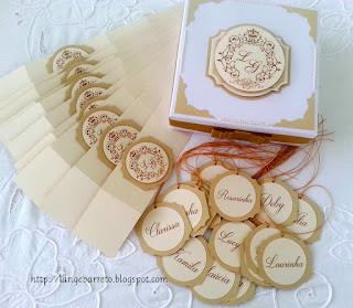 Kit personalizado para lembranças de casamento